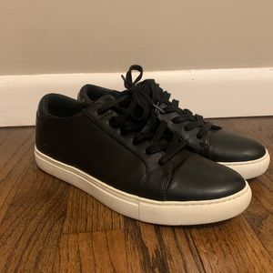 Sold❌Kenneth Cole Kam Black Leather Sneakers